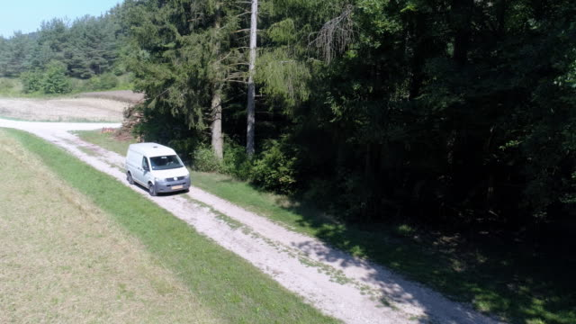 parcel post delivery in rural area - van vehicle stock videos & royalty-free footage