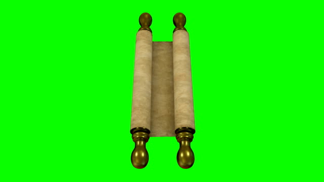parchment scroll rolling out green screen - middle east stock videos & royalty-free footage