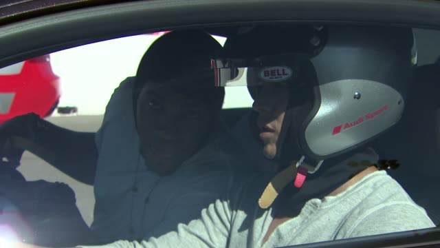 stockvideo's en b-roll-footage met jd pardo and mehcad brooks at audi sportscar experience on 10/13/12 in sonoma ca - pardo
