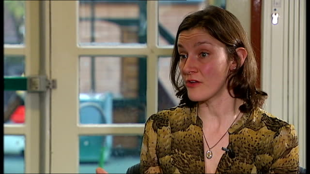 parenting classes to launch in deprived areas location unknown sally copley setup shot with reporter / interview sot graham allen mp setup shot along... - ジャッキー ロング点の映像素材/bロール