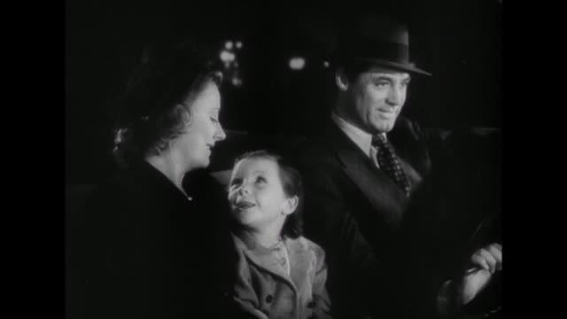 1941 parents (cary grant & irene dunne) comfort their daughter after she falls while performing in the school christmas pageant - 1941 stock videos & royalty-free footage
