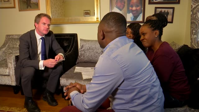 Parents of Malcolm MideMadariola start charity in his name following his murder ENGLAND London INT Family of Malcolm MideMadariola talking to...