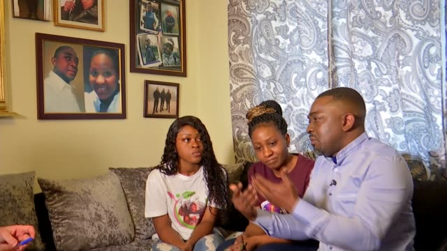Parents of Malcolm MideMadariola start charity in his name following his murder ENGLAND London INT Mariella MideMadariola interview SOT Olumide...