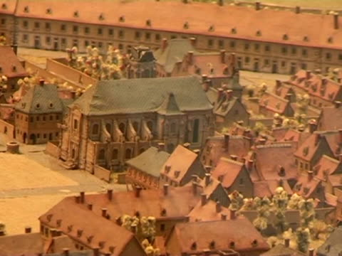paris, 18 jan .- on display under the glass dome of the grand palais in the french capital, a large exhibit of models and 3-d diagrams show the... - grand palais stock videos & royalty-free footage