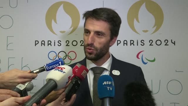paris 2024 chief tony estanguet confirms the polynesian island of tahiti has been chosen to host the surfing events at the olympic games - tahiti stock videos & royalty-free footage