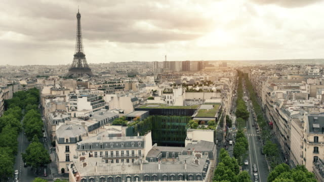 paris at sunset - boulevard stock videos & royalty-free footage