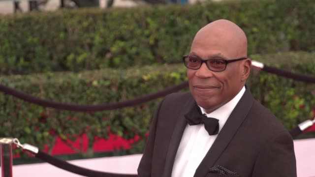 paris barclay at the 22nd annual screen actors guild awards - arrivals at the shrine auditorium on january 30, 2016 in los angeles, california. 4k... - shrine auditorium stock videos & royalty-free footage