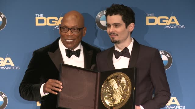 paris barclay, damien chazelle at 69th annual directors guild of america awards in los angeles, ca 2/4/17 - director's guild of america stock videos & royalty-free footage