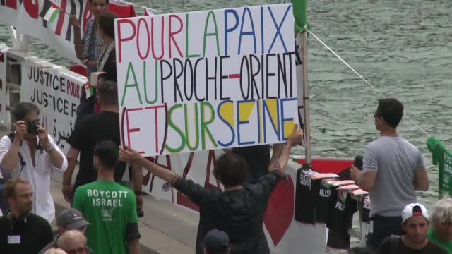 A Paris beach event celebrating Tel Aviv attracted a handful of visitors but a huge number of journalists riot police and security guards on Thursday...