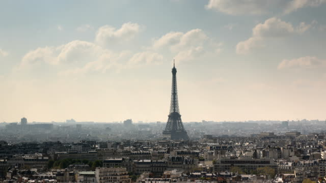 paris city time lapse - day stock videos & royalty-free footage