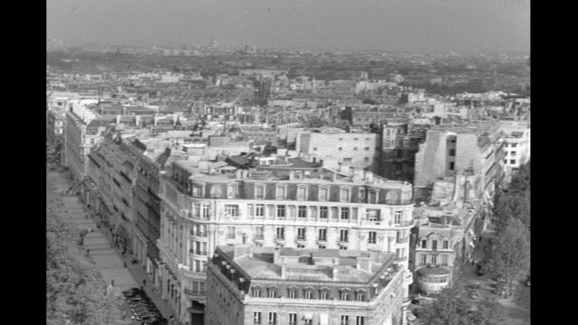 1946 - paris cityscape - eiffel tower stock videos & royalty-free footage