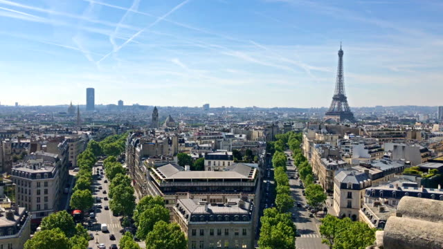 パリ エッフェル塔とモンパルナス - フランス点の映像素材/bロール
