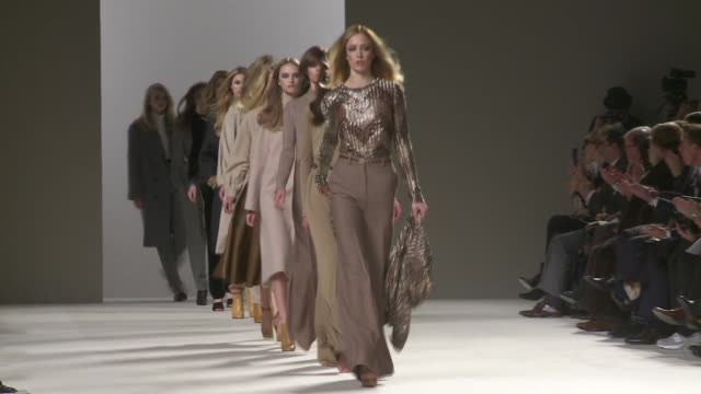 chloe paris fashion week a/w 2010 - chloe designer label stock videos and b-roll footage