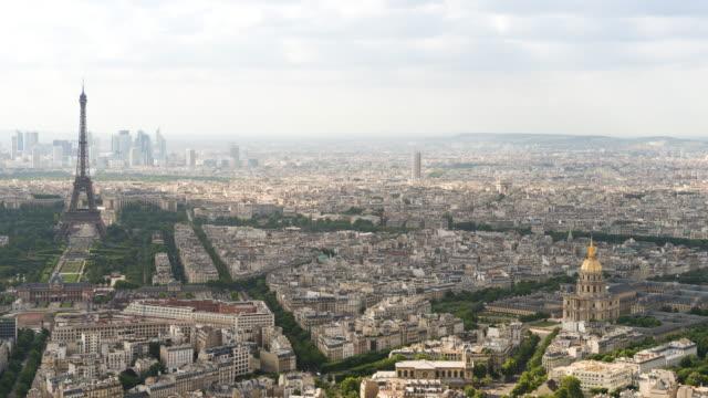 Parijs, Frankrijk, timelapse bij dag