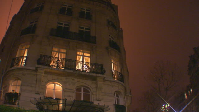 paris, francebuilding exterior from street - apartment stock videos & royalty-free footage