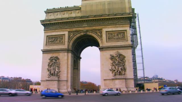paris, francel'arc de triomphe - 凱旋門点の映像素材/bロール