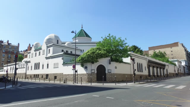 paris great mosque.. may 6, 2020 in paris, france. - islam stock videos & royalty-free footage