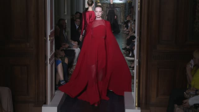 paris haute couture fw12 - valentino on july 04, 2012 in paris, france - valentino designer label stock videos & royalty-free footage