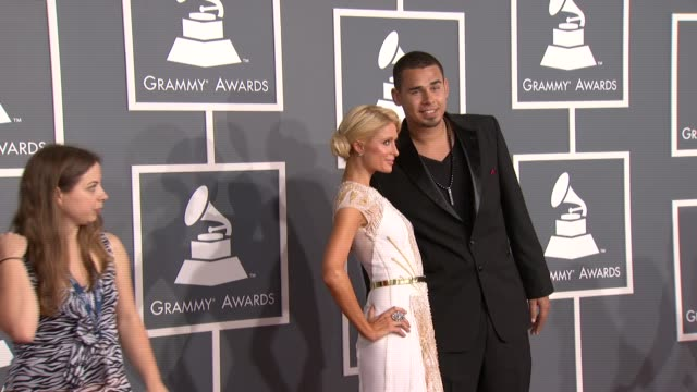 Paris Hilton and Afrojack at 54th Annual GRAMMY Awards Arrivals on 2/12/12 in Los Angeles CA