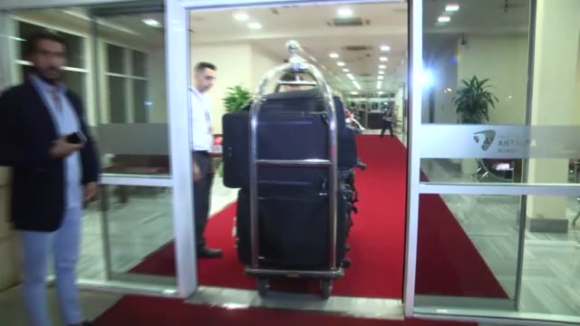 paris hilton and his fiance chris zylka arrive in antalya turkey on june 09 2018 paris hilton will attend the dosso dossi fashion show in antalya - paris hilton stock videos & royalty-free footage