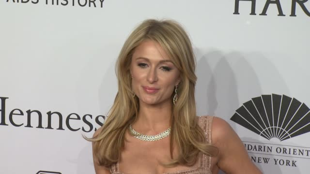 Paris Hilton at amfAR to Honor Harvey Weinstein at Annual New York Gala at Cipriani Wall Street on February 10 2016 in New York City