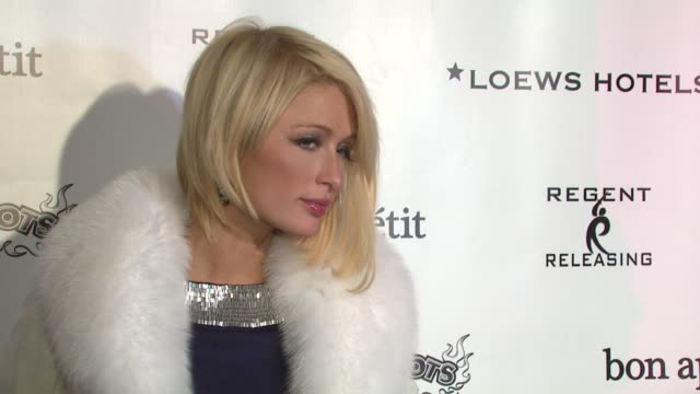 paris hilton at the 2008 sundance film festival at bon appetit supper club in park city utah on january 20 2008 - sundance film festival stock videos & royalty-free footage