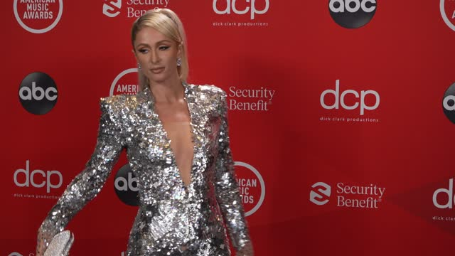 stockvideo's en b-roll-footage met paris hilton at the 2020 american music awards at the microsoft theater on november 22, 2020 in los angeles, california. - american music awards