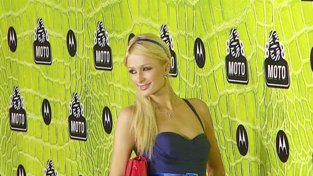 paris hilton at the 8th annual anniversary party hosted by motorola at the hollywood palladium in hollywood california on november 2 2006 - paris hilton stock videos & royalty-free footage
