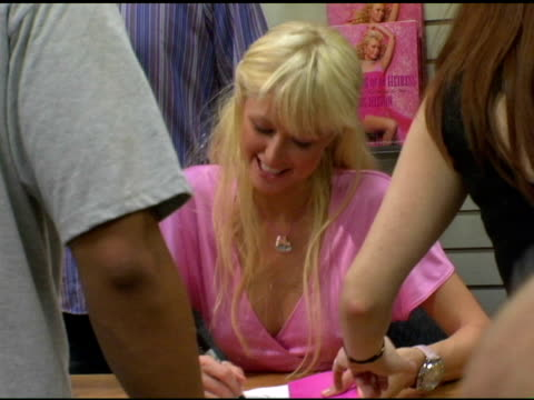 Paris Hilton at the Book Signing of Paris Hilton's 'Confession of an Heiress' at Brentanos in Los Angeles California on September 17 2004