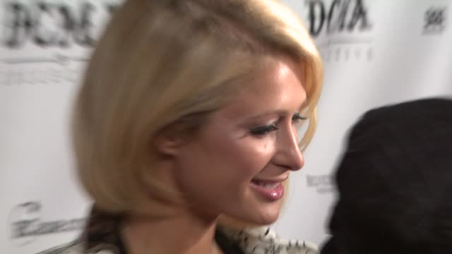 paris hilton at the dcma collective celebrates grand opening of flagship store on march 15 2008 - flagship store stock videos and b-roll footage