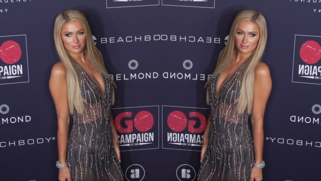 vídeos y material grabado en eventos de stock de paris hilton at the go campaign 13th annual go gala - paris hilton