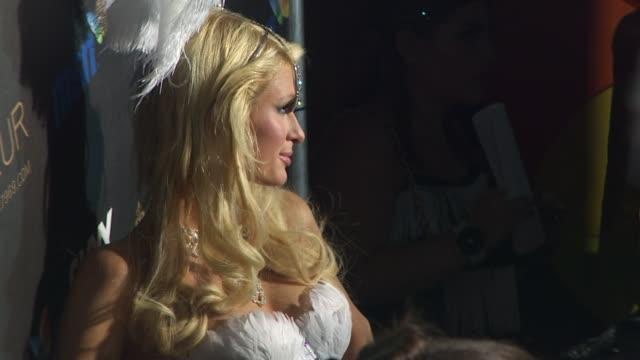 paris hilton at the heidi klum's 10th annual halloween party at west hollywood ca - paris hilton stock videos & royalty-free footage