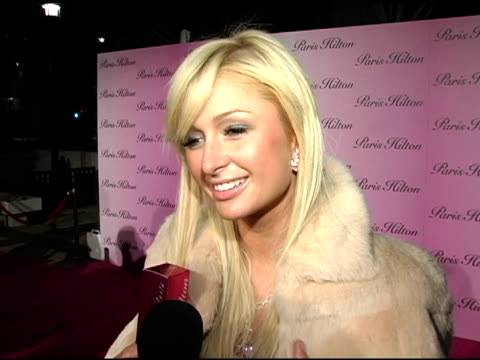 paris hilton at the launch of paris hilton's new fragrance at 5900 wilshire boulevard in los angeles, california on december 3, 2004. - paris hilton stock videos & royalty-free footage
