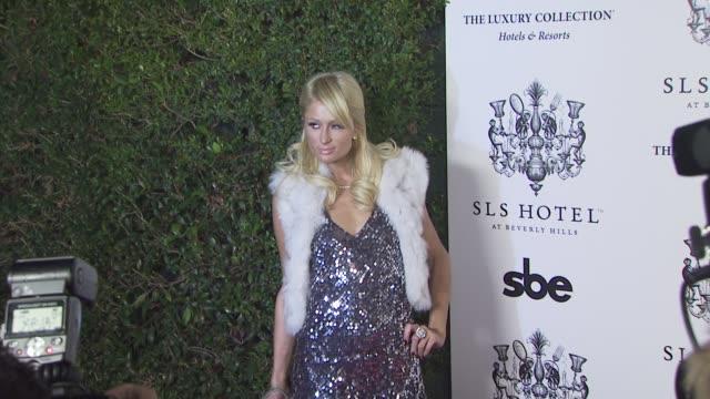 paris hilton at the opening of sbe's sls hotel at los angeles ca. - 2008 bildbanksvideor och videomaterial från bakom kulisserna