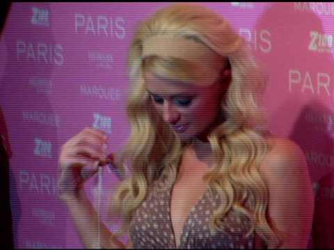 paris hilton at the paris hilton album release party at marquee in new york new york on august 16 2006 - paris hilton stock videos & royalty-free footage