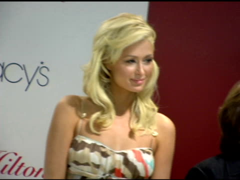 paris hilton at the paris hilton autograph session at macy's herald square in new york new york on june 16 2006 - macy's herald square stock videos and b-roll footage