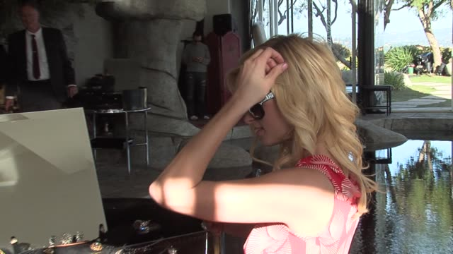paris hilton at the the diamond aquifer at a private residence in los angeles, california on february 28, 2006. - aquifer stock videos & royalty-free footage