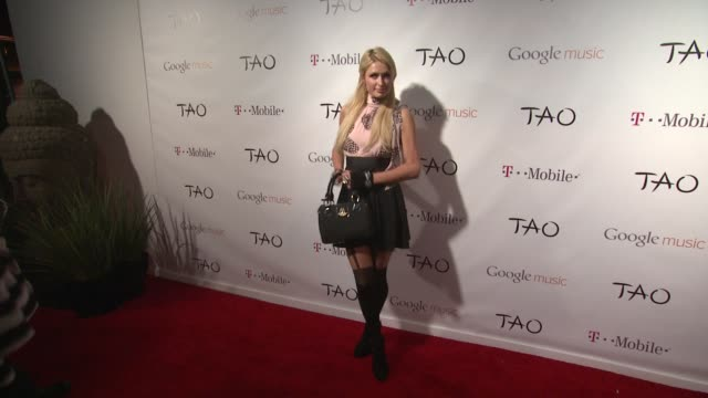 paris hilton at the tmobile presents google music at tao day 1 on 1/20/12 in park city ut - t in the park stock videos & royalty-free footage