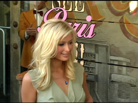 paris hilton at the warner brothers pictures, kitson and people's liberation celebratation of 'house of wax' at kitson in los angeles, california on... - paris hilton stock videos & royalty-free footage