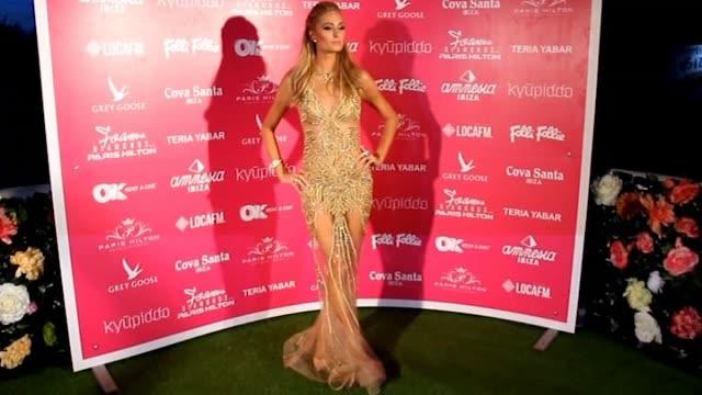 Paris Hilton attends Amnesia Club as DJ