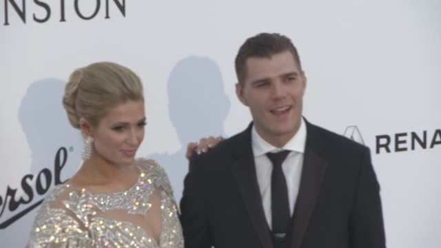 Paris Hilton Chris Zylka at amfAR Gala Cannes 2017 at Hotel du CapEdenRoc on May 25 2017 in Cap d'Antibes France