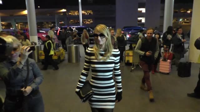 Paris Hilton departing at LAX Airport in Los Angeles in Celebrity Sightings in Los Angeles