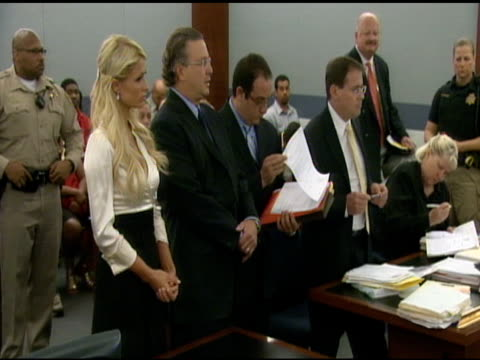 Paris Hilton in the courtroom of the Clark County Courthouse at the Paris Hilton Court Appearance at the Clark County Regional Justice Center at Las...