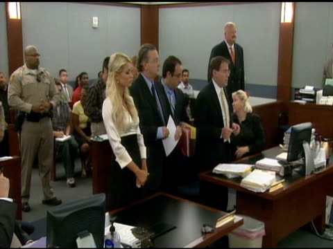 paris hilton in the courtroom of the clark county courthouse. at the paris hilton court appearance at the clark county regional justice center at las... - las vegas hilton stock-videos und b-roll-filmmaterial
