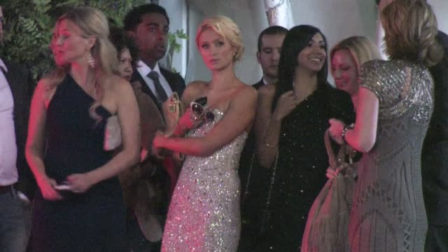paris hilton leaving the emi grammy after party in hollywood 02/12/12 - emi grammy party stock videos & royalty-free footage