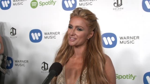 INTERVIEW Paris Hilton on the event her favorite performances from the show at Warner Music Group Hosts Annual Grammy Celebration in Los Angeles CA