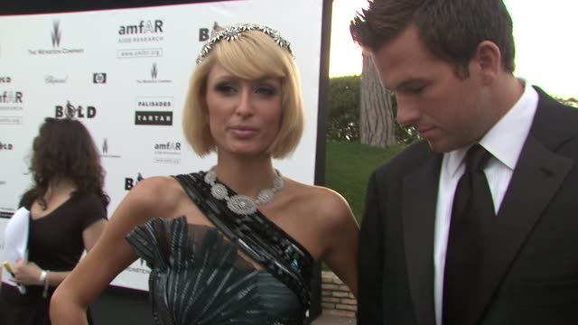 Paris Hilton on what she's wearing tonight at the Cannes Film Festival 2009 amfAR Red Carpet at Antibes