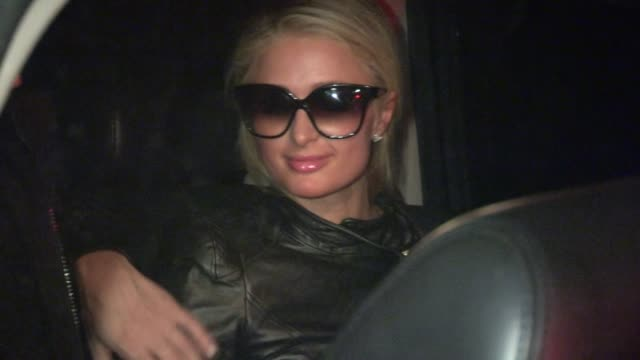 paris hilton river viiperi depart vignette in west hollywood 02/20/13 - vignettierung stock-videos und b-roll-filmmaterial