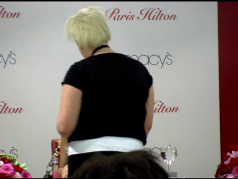 paris hitlon at the paris hilton autograph session at macy's herald square in new york new york on june 16 2006 - macy's herald square stock videos and b-roll footage