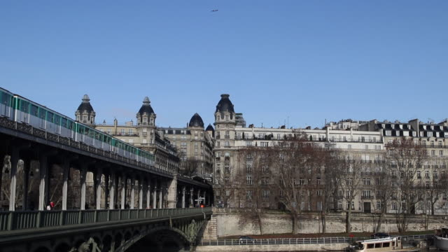 Paris in winter with a cloudless sky